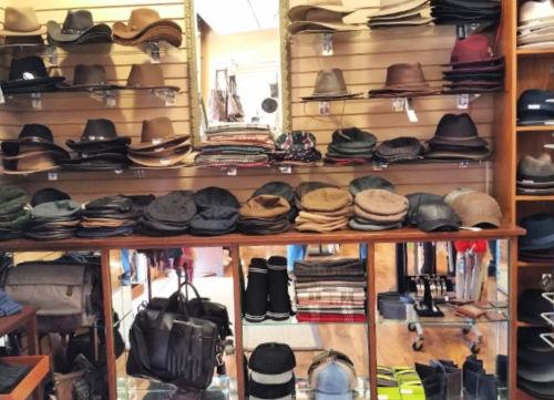 Hats on display at Black Cat Hats