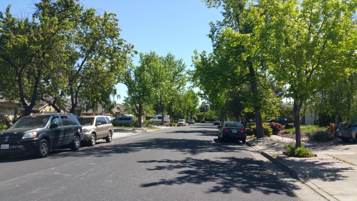 Street view along Carlester Drive, Los Gatos, near Live Oak Manor Park