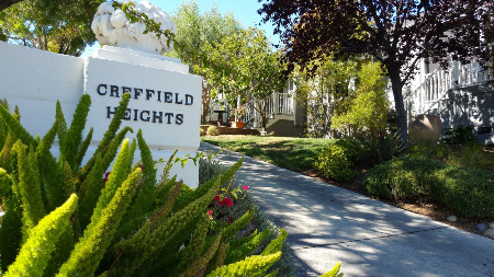 Creffield Hights community sign