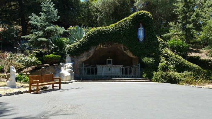 The Grotto at Sacred Heart Jesuit Center - the Jesuit Novitiate in Los Gatos - 2016