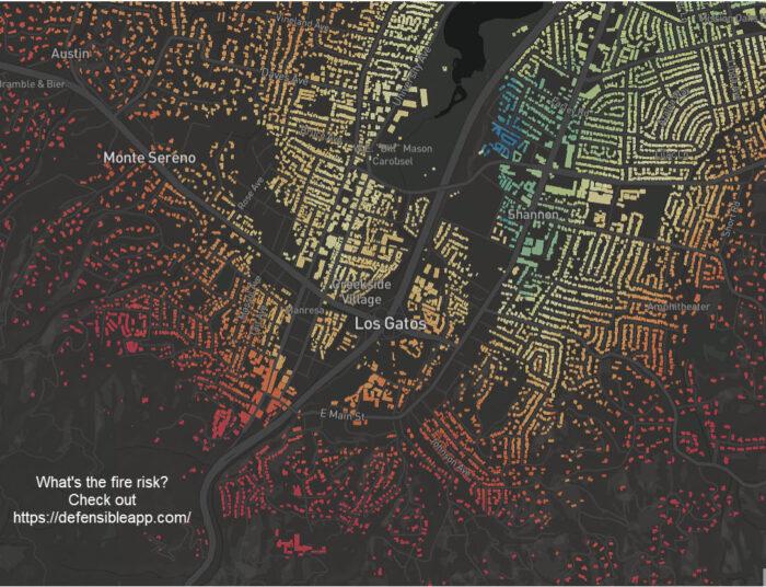 Los Gatos fire risk map