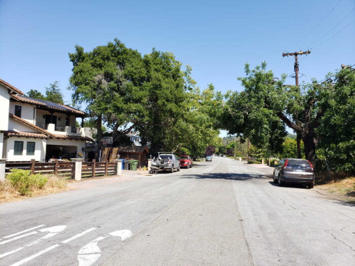 Kenwood Acres - Los Gatos - street view (click to see slightly larger image)