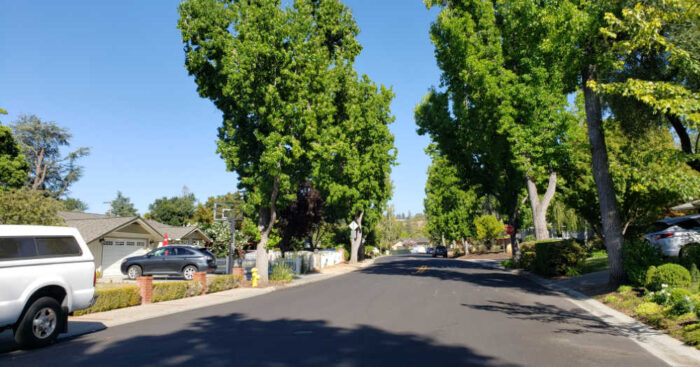 Cardinal Lane in the Stonybrook neighborhood of Los Gatos